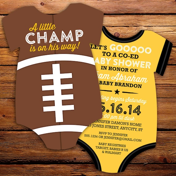 Football Baby Shower Invite