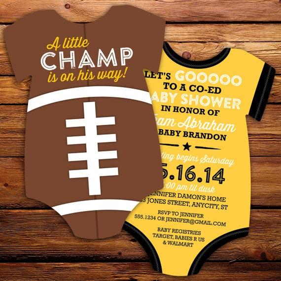 Football Baby Shower Invitation DIY All Star Invitation