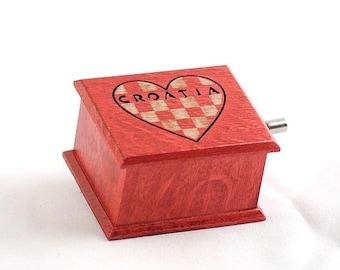 Nautical decor Croatia travel gifts gift for travelers souvenir music box Hrovatska Istria wooden handmade art
