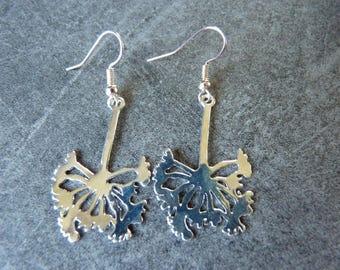 Grass earrings in silver