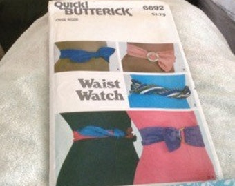 1970's Waist Watch Craft Project Pattern