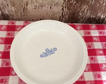 "Vintage Pyrex Cornflower Blue 9"" Pie Plate"