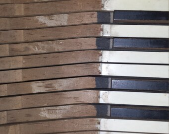 Reclaimed Antique Piano Keys