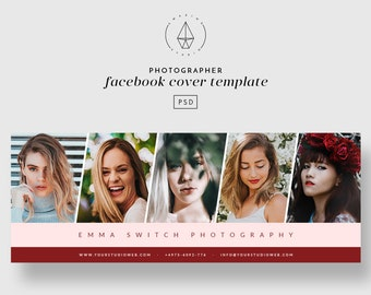 Facebook Cover Template, Facebook Template, Facebook Timeline Banner, Facebook Cover Photographer, Photoshop Template, Photographer Template