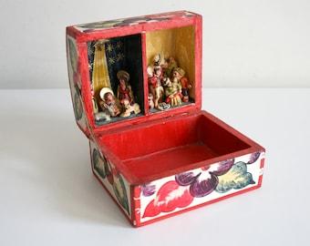 Peruvian Retablo Nativity Diorama Shadow Box