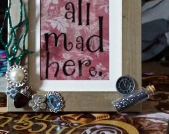 Alice in wonderland inspired frame