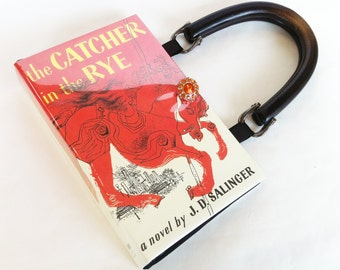 Catcher In The Rye Book Purse - Teacher Gift - Classical Literature Collector Gift - Anniversary Gift - Pocketbook made from a book
