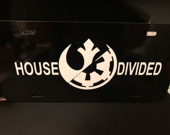 Star Wars house divided license plate