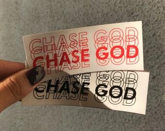 CHASE GOD - Vinyl Sticker