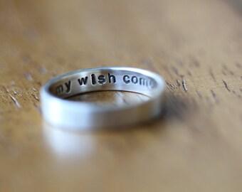 Sterling Secret Message Ring Sterling Silver (E0335)