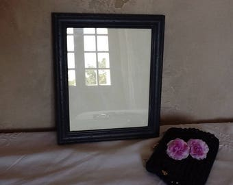 picture frame with glass from the 80's weathered black