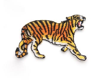 1 piece Iron-on Embroidered tiger Appliques,Adhesive Embroidered flower,Patches For Dress Supplies,Hair Flower,for kids (159-76)