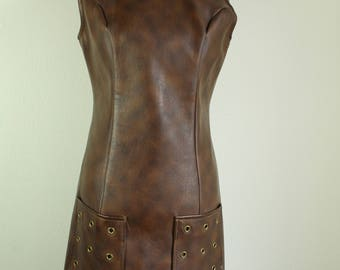 1960s Leather Dress