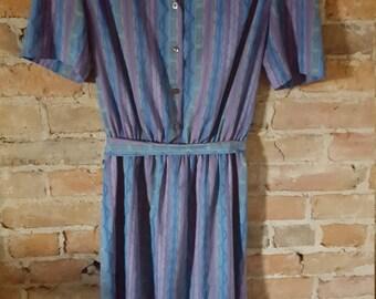 70s/80s Retro Diner Waitress Dress