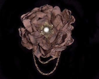 Steampunk Flower Fascinator Steampunk Wedding Fascinator Steampunk Hair Clip Steampunk Hat Steampunk Costume Steam Punk Steampunk Bridal
