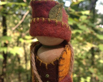 Forest Gnome, Waldorf inspired natural storytelling doll