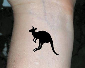 temporary tattoo kangaroo tattoo fake tattoos