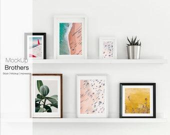 Frame set mockup | Styled frame mock up | printable art mock-up | Stock Photo | artwork | Printable art mockup | empty frame | blank frame