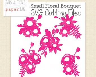SVG Cutting Files: Small Flower Bouquet SVG, Flower SVG, Flower Cluster svg