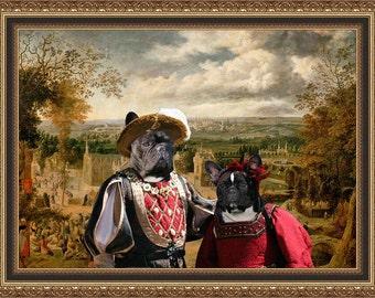 French Bulldog Art Frenchie Gift French Bulldog Print Frenchie Portrait Frenchie Dog French Bulldog Gifts Custom Dog Portrait