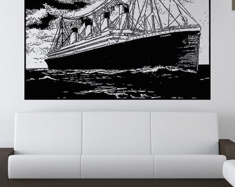 Vinyl Wall Decal Sticker Titanic at Sea 5283s