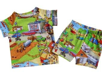 Kids Shorts,  Baby Shorts, Retro Style shorts, Toddlers Shorts, Childrens Jersey Shorts, Scandi Style, Kids Summer Clothes