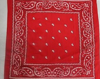 Free shipping Red Vintage  Cotton Bandana   #096