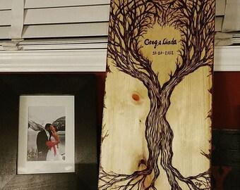 Couples gift - husband gift - wife gift -  wood anniversary -  5 year Anniversary -,boyfriend gift,girlfriend gift,romantic art,