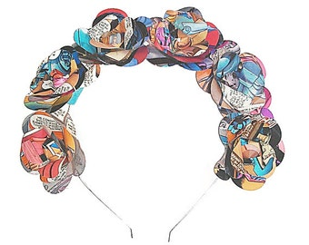 10% off with the code BDAY10  Kitsch Geeky Comic Book Flower Floral Crown Headband