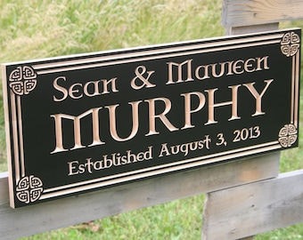 Celtic Sign, Irish Name Sign, Irish Blessing Sign, Family Name Sign, Benchmark Custom Signs Maple CN