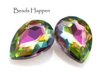 18x13mm Pear Pears Vitrail Medium Glass Jewels Stones Gems, 18x13 Pears, Quantity 2