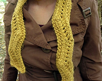 Hand knit metallic gold scarf, zig zag scarf, mulberry silk scarf, baby alpaca scarf, luxury scarf, shiny gold scarf, high fashion scarf