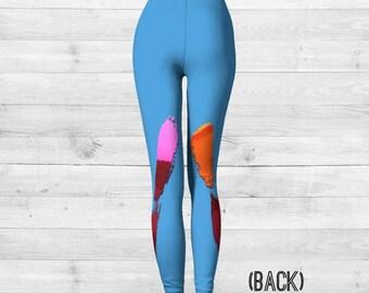 BLUE IDOL art leggings