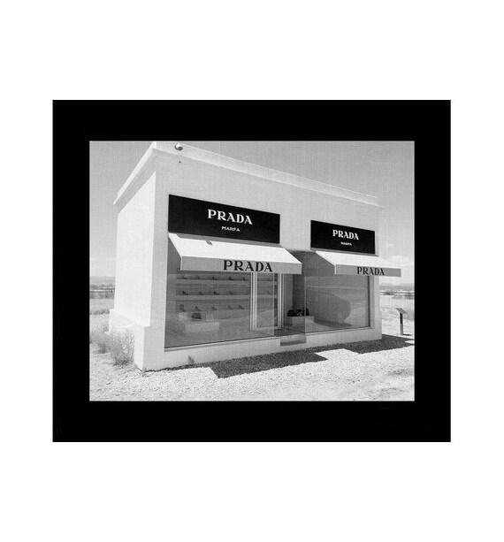 affiche prada mode murale art tirages noir et blanc affiche. Black Bedroom Furniture Sets. Home Design Ideas