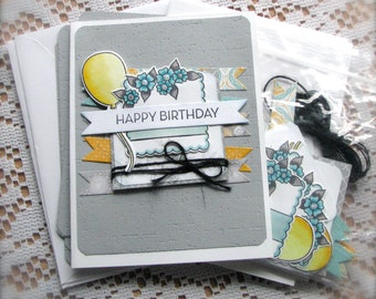 DIY   Happy Birthday Greeting Card Kit    Set of 5   Shipping Included