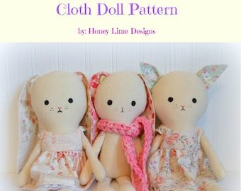 PATTERN - Bibbi Bunny and Kallie Kitty Dolls