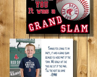 Boston Red Sox 4x6 Thank You Note Cards