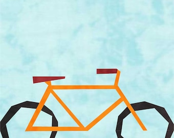 Bicycle, a block to paper piece PDF