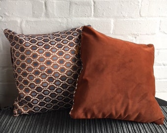 Handmade geometric cushion