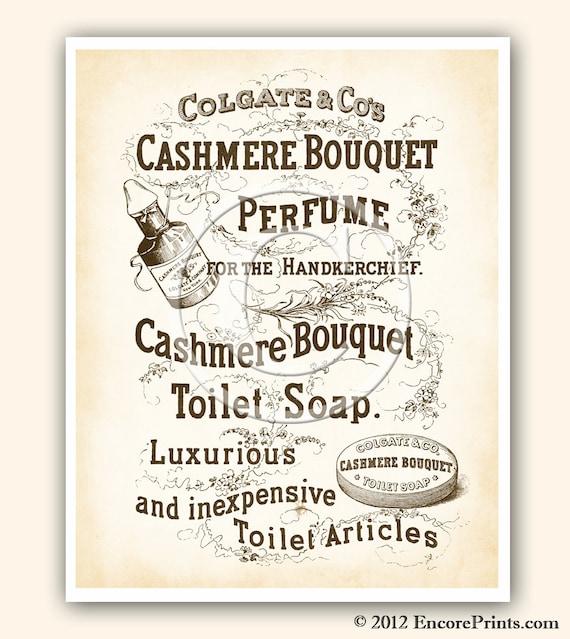 Items Similar To Vintage Bathroom Decor CASHMERE BOUQUET