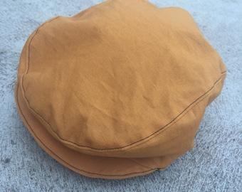 Baby and boys mustard vintage rockabilly flat cap newsboy hat