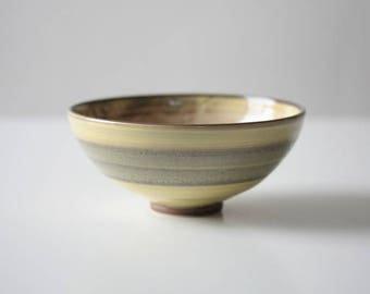Yellow and Brown Ceramic Bowl