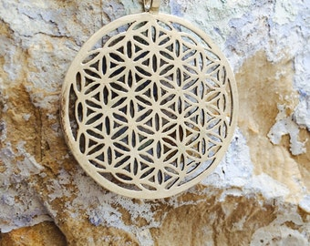 silver flower of life necklace, flower of life, silver flower of life, geometric necklace, unique necklace,silver necklace, blessing