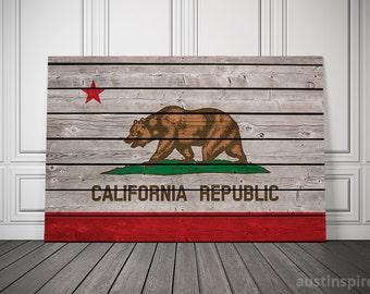 California Canvas Flag