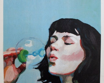 Jenny / Big print -  woman PORTRAIT ART PRINT