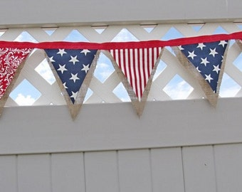 Birthday Banner Fabric Bunting Fabric Banner Nautical Banner Baby Shower Beach Banner Beach Decoration Hanging Wall Art Boho Summer Banner