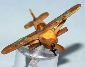 Antique Celluloid Biplane Pin