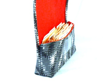 Coupon Organizer Holder, Ready to Ship, Coupon Wallet, Coupon Carrier Modern Chevron Heavy Duty Fabric