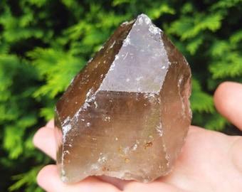Natural Citrine Point - Smoky Citrine Crystal - A