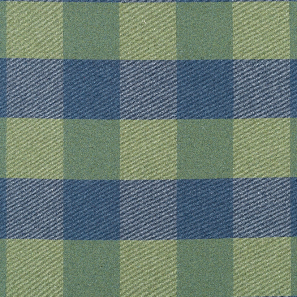 Blue Green Plaid Wool Upholstery Fabric Modern Sage Green